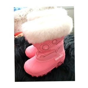 2/$25💓LIKE NEW TODDLER GIRLS WINTER BOOTS